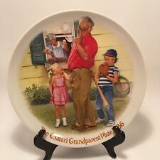 Csatari Grandparents Series The Home Run 1986 Knowles Porcelain Collector Plate