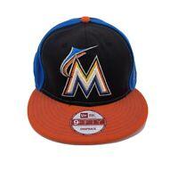 New Era Miami Marlins 9 Fifty Snapback Hat Cap MLB Wool Blend