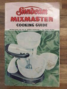 Original Sunbeam 1950s  Mixmaster owners manual