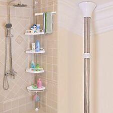Bathroom Corner Rack Shower Shelf Stand 4 Tier Adjustable Height Bath Organiser