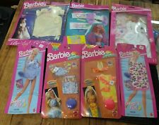 Lot of 7 Vintage Barbie Outfits New in Package