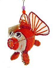 BEADWORX-Ventilador de la vida del mar océano colgante de pez modelo animal ~ con cuentas de trabajo del grano