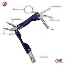 8in1 Micro à pince avec DEL couteau tournevis Coupe-fil Randonnée Camping Pêche