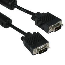 5 M Black 15 PIN MASCHIO A MASCHIO SVGA Cavo VGA PER MONITOR / PROIETTORI / LCD HD
