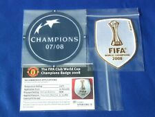 Lextra 2007-08 Manchester United Champions League & World Club Winners Patch Set
