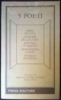 5 POETI - a cura di Rocco Giuffrè - Prova d'autore, 1989 - L