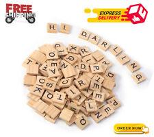 200PCS Scrabble Letters for Crafts -Wood Scrabble Tiles-DIY Wood Gift Decoration