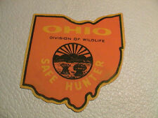 OHIO SAFE HUNTER ODNR DIVISION OF WILDLIFE GUN HUNTING CANVAS VERSION PATCH NEW