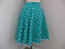 Azul con manchas blancas Rock and Roll Falda 50 's Fancy Dress Grasa Cintura 28 - 34