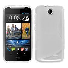 Accessoire Housse Etui Coque TPU Silicone Motif Line TRANSPARENT HTC Desire 310