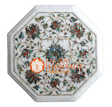 Marble Center Coffee Table Top Pauashell Inlay Stone Gift Decorative H004
