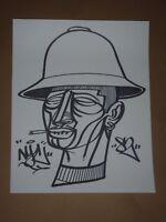 Doze Green Marker Mugs original art drawing not a print hip hop street urban
