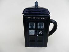 """Doctor Who Tardis Ceramic Mug with Lid. Overall Height 6.5"""""""