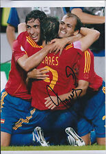 Fernando TORRES Signed Autograph 11x8 Photo AFTAL COA Spain World Cup Winner
