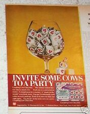1970 vintage ad - Laughing Cow Cheezbits cheese snacks VINTAGE Print AD