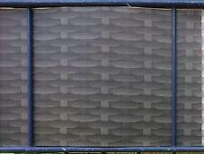 35m Rattan optik anthrazit Sichtschutz Zaunfolie Doppelstabmatten Stabmatten