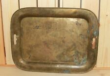 Antique brass serving tray