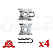 BMW E32 E34 E36 E92 Z3 Z4 WINDOW REGULATOR SLIDER CLIPS LEFT + RIGHT 4 pieces