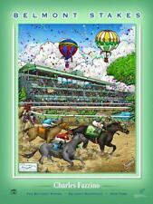 Belmont Stakes CLUBHOUSE TURN Belmont Park Racetrack Official Poster by Fazzino