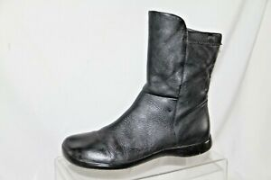 CAMPER black mid length wide toe boots, rubber sole Size 37
