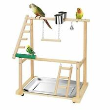 Pet Parrot Playstand Double Layer Parrots Bird Playground Bird Play Stand