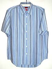 FIRETRAP - Blue/Cream Stripe Cotton S/S Shirt - Size L - BNWOT