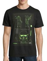 Star Wars Men's Black Death Trooper Schematic Short Sleeve Graphic T-Shirt