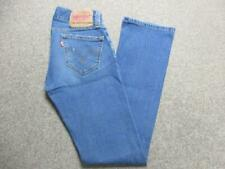 "WOMENS LEVI SLOUCH BOOTCUT STRETCH JEANS SIZE 7 33""L / REF K3487"