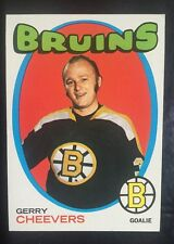 1971-72 Hockey Card  # 54 Gerry Cheevers NM-MT Great Color Bruins