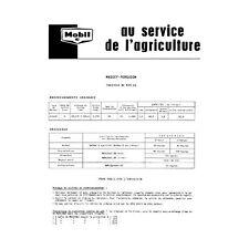 Fiche graissage Mobil Massey-Ferguson MF 835 DS