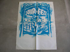 Rare Affiche JOUR DE FETE - Michel LANDI- JACQUES TATI - 59.5*80CM