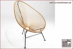 Original Acapulco Chair aus Mexiko - karamell hellbraun - Sessel Garten Indoor