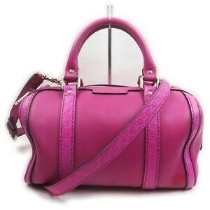 Gucci Hand Bag  Hot Pink Leather 1903022