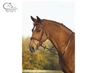 Martingale a Collier Leather with Fork Adjustable Running Martingale