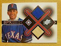 2001 Upper Deck SPX Winning Materials Game Used Jersey Bat Alex Rodriguez #AR2