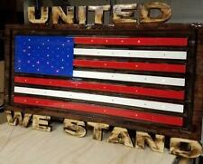 Custom Carved Wooden Signs | American Flag Sign | Patriotic Sign | Made in Ameri