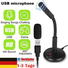 Profi Mikrofon Set USB Kondensator Mikrophon Desktop Für PC Laptop Smartphone