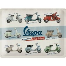 Blechschild VESPA Models 30 x 40 cm Piaggio Roller NEU Italia Scooter Ape sign