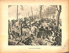 Combats Fils de Fer Barbelés Soldats Poilus de Léon Couturier Peintre 1915 WWI