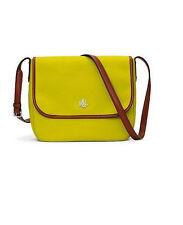 New Lauren Ralph Lauren Bainbridge Citron Nylon Messenger Bag