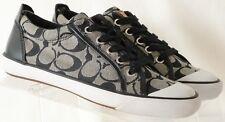Coach Barrett Black Signature C Fashion Sneaker Canvas Designer Women's US 6.5 B