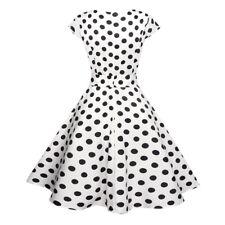 3f5d7198de1 Damen Rockabilly 50er Swing Petticoat Vintage Hepburn Party Freizeit  Minikleider