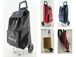 NWT Large Capacity Light Weight Wheeled Shopping Trolley Push Cart Laundry Bag