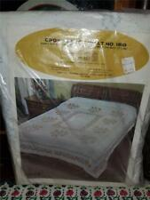 Vtg Melody Cross Stitch Quilt Kit Double 90X103 Cotton Stamped Top Open Complete