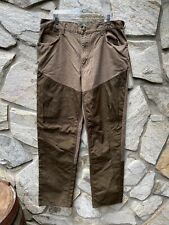 Cabelas Men's Roughneck Upland Hunting Brush Guard Pants Brown Size 38x34