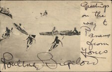 Diving Boys West Indies TUCK c1910 Used Royal Mail Packet Cancel Cover Used PC