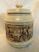 Unmarked McCoy Cookie Jar Western Frontier Covered Wagon Scene