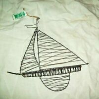 Sailboat Nautical Christmas Ornament  Vintage Midwest of Cannon Falls  NWT
