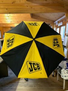 BLACK AND YELLOW JCB PARASOL OUTDOOR