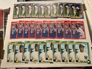 Bernie Williams 1990 New York Yankees 30 Card Rookie Lot Topps Score Donruss